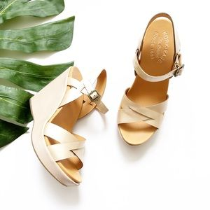 Kirk-Ease Leather Wedge Sandals